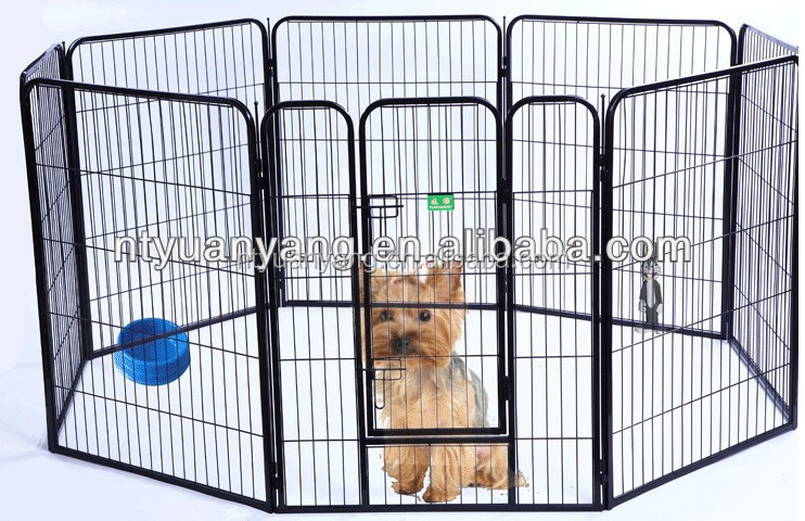 Black large Heavy Duty Pet Playpen Dog Exercise Pen China manufacturer