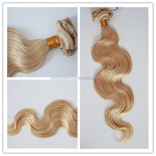 Blond Body Wave Grade Virgin Russian 100% Human Hair,Russian body wave for sale