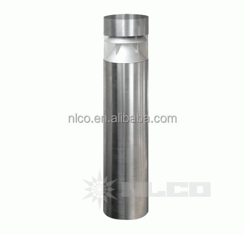 solar powered ip65 outdoor garden lighting 304 stainless steel 13W led bollard column light
