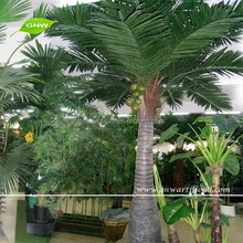 GNW APM038 Mini Decorative Artificial Plastic Leaves Coconut Palm Trees used in indoor&outdoor landscaping decoration