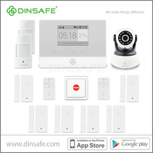 High quality intelligent wireless burglar alarm system with smoke/flame detectors