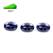 wuzhou loose cubic zirconia stones oval cut tanzanite color for jewelry making