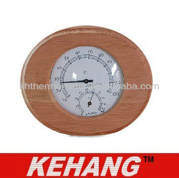 Cheap wood Sauna House Thermometer with hygrometer promotion sauna thermometer big sale