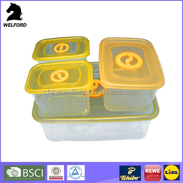 hot selling clear refrigerator used plastic freezer container