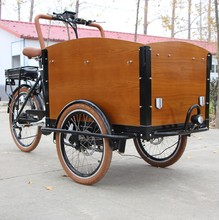cargo tricycle with cabin and box