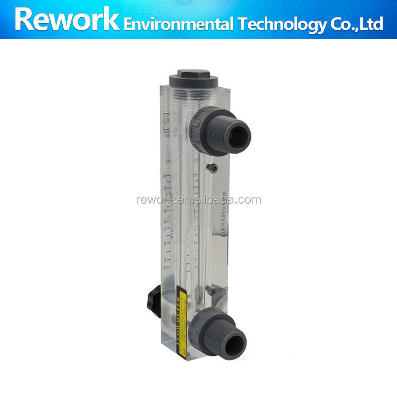 LZM-15T acrylic panel with valve flowmeter for clean water