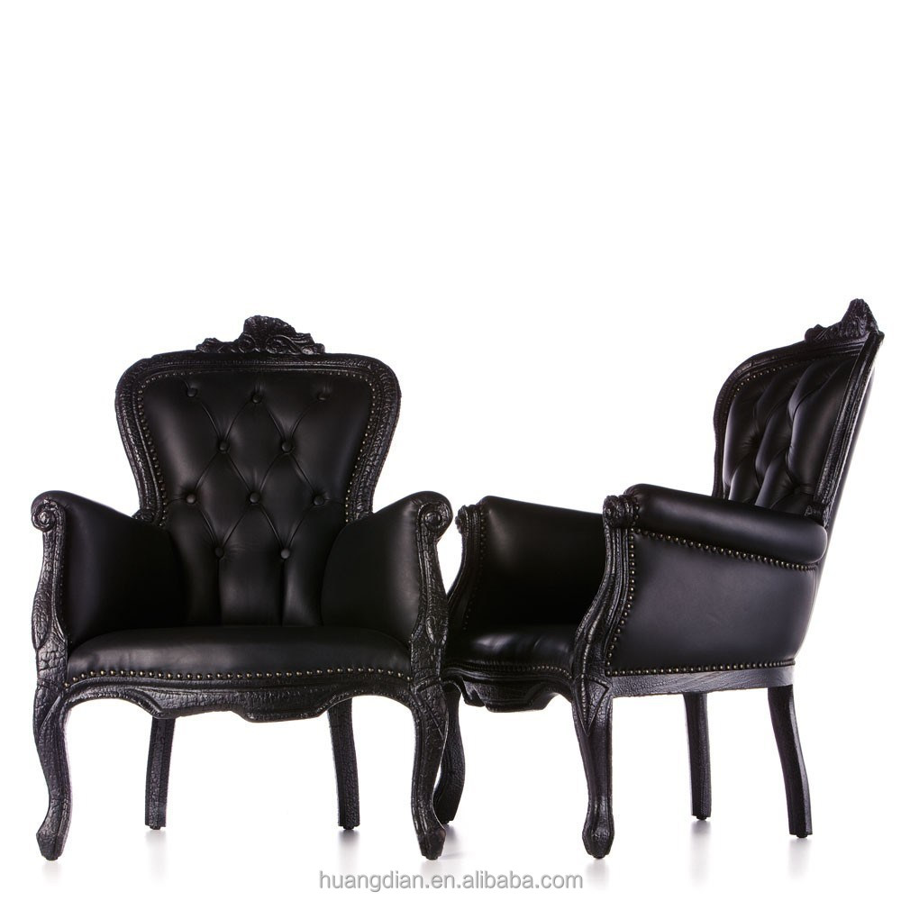 Chesterfield style button back arm chair in black burnt wood finish alibaba furniture