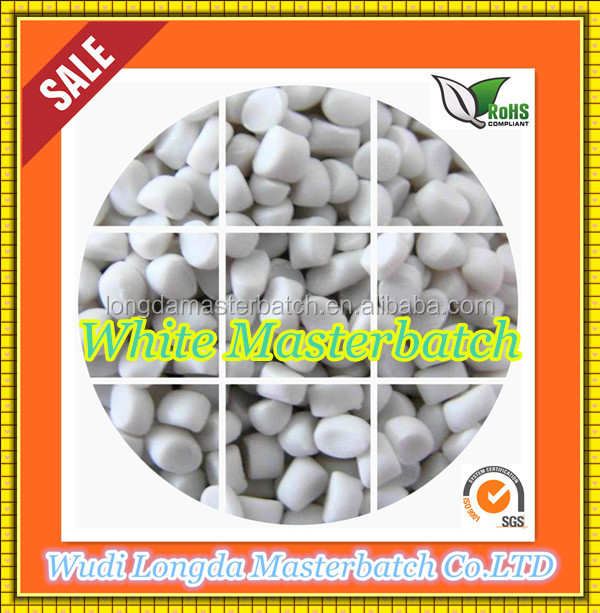 Snow white MB on the LDPE/PE/PP/LLDPE basis