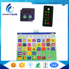 New silk screen printing or digitally Graphics Overlay membrane switch panel