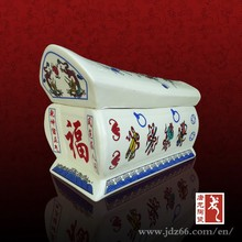 Chinese style high quality antique ceramic funeral urns with FU word for adult