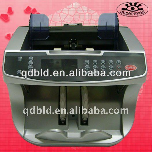 money counter discriminator/money counting machine with UV/MG/MT/IR counterfeit detection for TBH/CHF/MYR/TRL/CRL