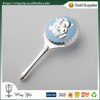 Wholesales tailor made Gift for Baby Toy Chrome Plated Rattle