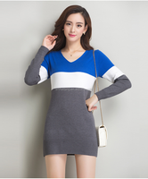 Women long Sleeve stripe Dress, Fashion Lady Dress