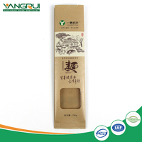 Factory wholesale noodles kraft paper packing bag with window