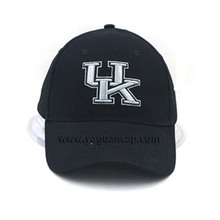 plain black baseball cap with 3D embroidery