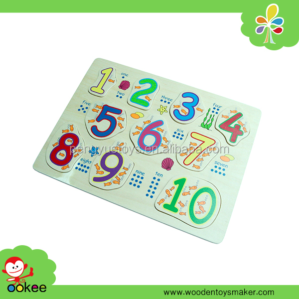 Classic Children Educational Wooden Toy Number Peg Puzzle