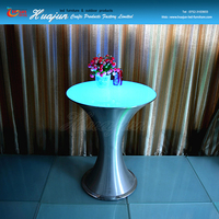 hot sale new style bar led table,stainless steel bar table