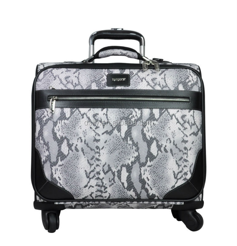durable new pattern PVC laptop rolling trolley case
