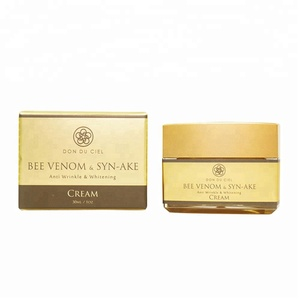 Anti-aging skin whitening face cream formula bee venom cream oem