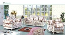2012 American style 1+2+3seats sofa with imported rubber solid wood and carved