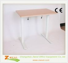 wood top study and chair set adjustable height metal table legs