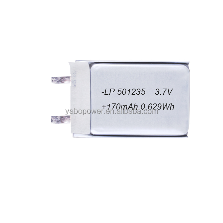 3.7v lithium polymer battery lipo battery 170mah for gps tracker mp3 mp4 bluetooth headset