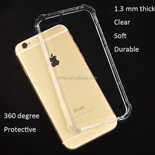 Hot selling for apple iphone 6 case, air cushioned clear shockproof case for iphone 6s