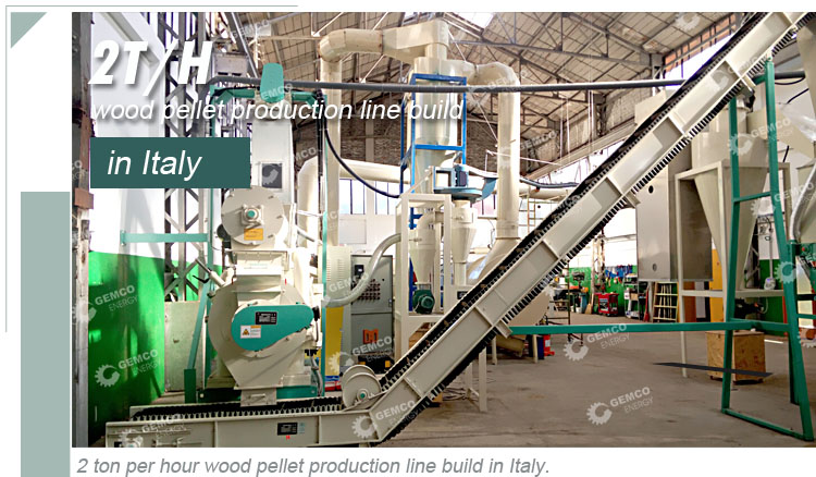 GEMCO complete turnkey biomass and wood wastes pelleting plant - 2ton wood pellet production line