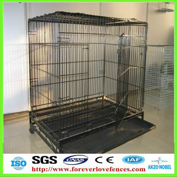 (Anping factory, China) with tray and wheels dog cage
