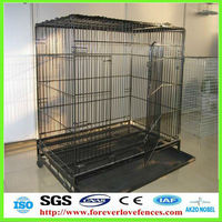 dog cage with tray and wheels (Anping factory, China)