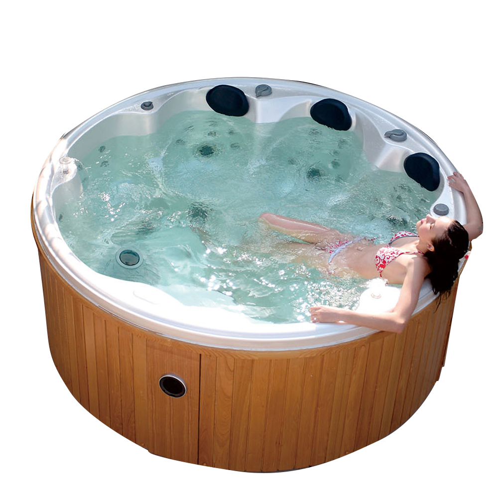 Hs-097y Hot Tubs Outdoor Spa Whirlpool/ 8 Person Round Hot Tubs ...