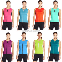Wholesale Digital Printing Custom Cycling Jersey Sublimation Cycling Vest For Women