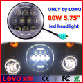 "80W led motorcycle headlight 5.75"" 7"" 5.75 inch led headlight special for Harley motorcycle"
