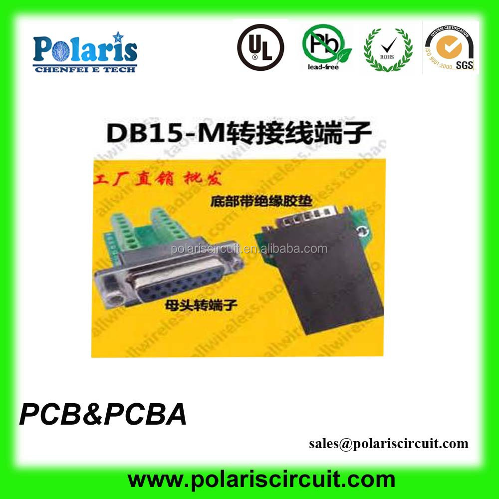 DB15- M solderless contact Terminal BLOCK Breakout PCB Board with SCREW/RIVETS /SCEWLOCKS l to global stability