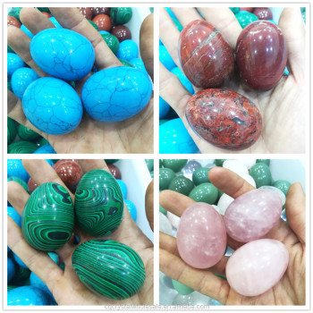 wholesale natural carved quartz crystal jade yoni egg vaginal exercise jade eggs