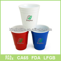 Color solo changing plastic coffee cup with sleeve 16oz