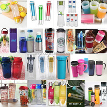 Hot Clear smart water bottle sizes with Cap
