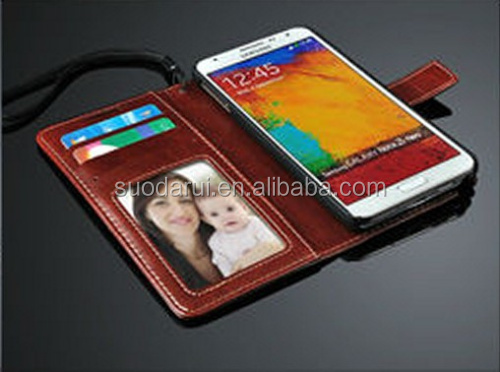 Vintage Retro Leather Book Style Wallet Stand Flip Case Cover For Samsung Galaxy Note 3 Neo N7505