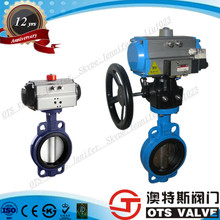 Pneumatic Actuator Operated Motorized Control Butterfly Valves