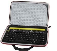 High Quality Pu leather Keyboard and laptop Sleeve Case Bag with Zipper for Bluetooth Wireless Keyboard