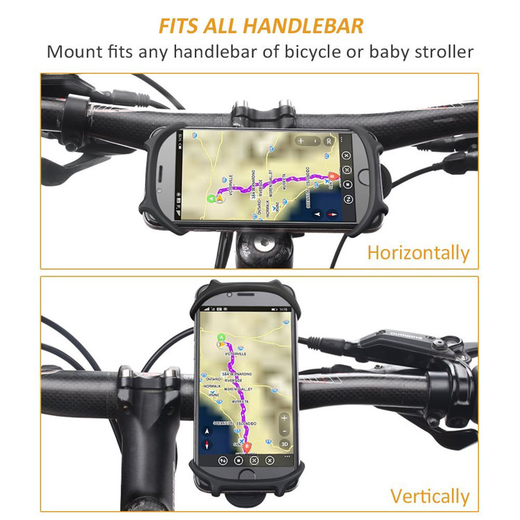 Bicycle Motorcycle Accessory Elastic Silicone Bike GPS Phone Holder Mount Universal Handlebar Mobile Phone Holder