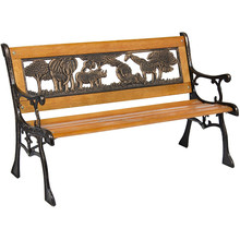outdoor two seating animal bench kids park bench