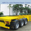 Container Transport Skeleton Truck Trailer With