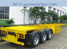 Container Transport Skeleton Truck Trailer With CCC , SGS , ISO