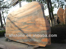 red garden marble boulder stones , red outdoor landscape marble stone rock