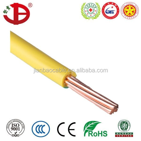 BVR copper conductor 450/750V PVC Insulated Electrical Wire flexible cable