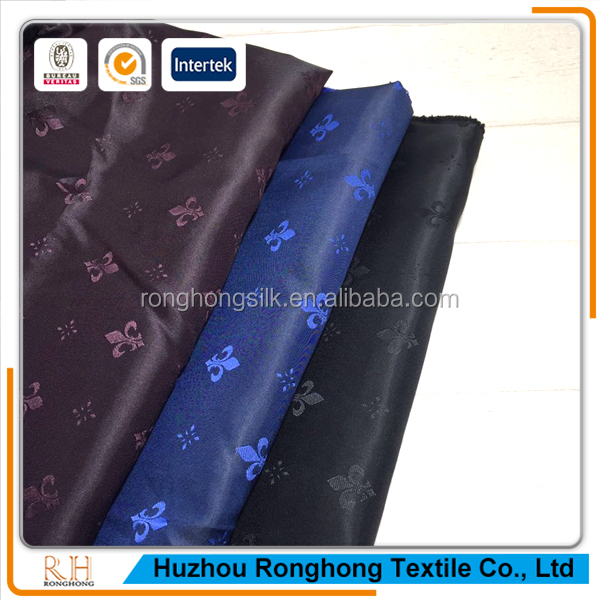 high quality woven polyester jacquard lining fabric for suit, coat, jacket, bag