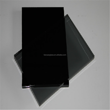 factory produce 4mm dark grey float toughened glass heat soaked polish edged