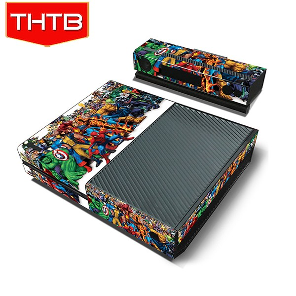 Colorful cartoon printed for Microsoft xbox one console skin decal