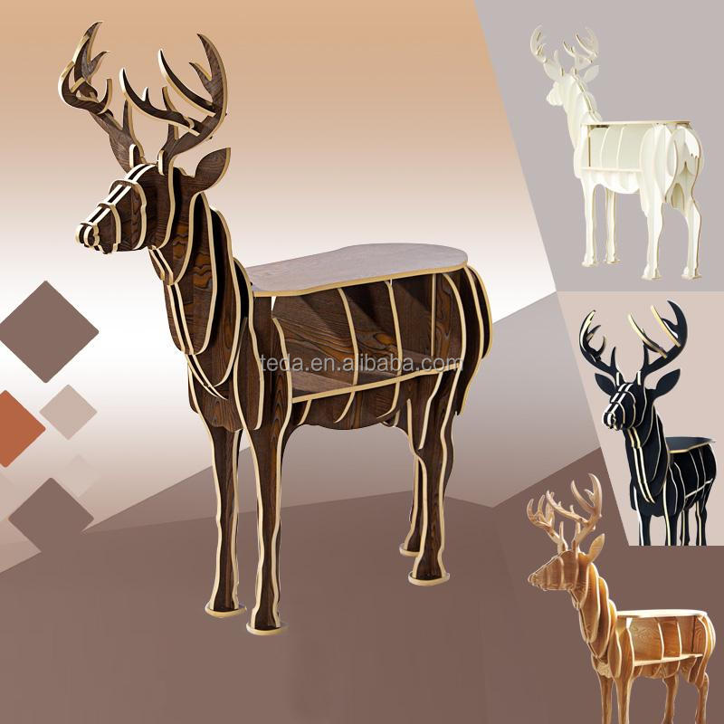 wood-deer-bookshelf-model-originality-rack